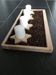Adventkranz Teller mit Sternen 400x185mm