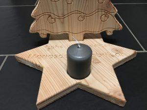 Teelichthalter Christbaum XL personalisiert