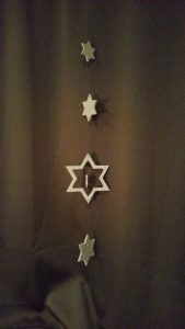 Weihnachtsdeko-Set Sterne 6mm Buche