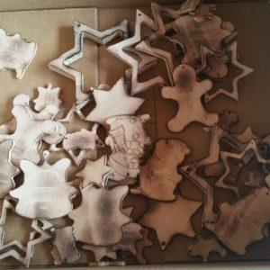 Christbaumbehang Hängedeko Weihnachten 42-teilig aus Holz Buche