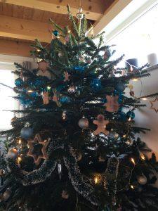Christbaumbehang aus Buchenholz