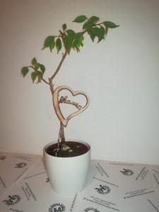 Blumenstecker Herz Muttertag aus Buche