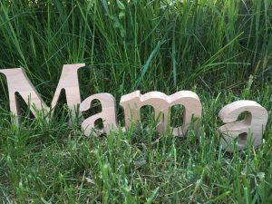 Deko-Buchstaben Mama 10cm hoch