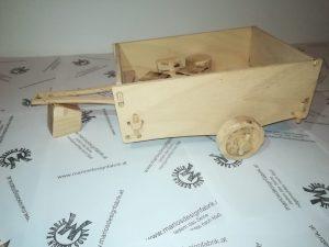 Anhänger für Motorikspiel Fahrzeug Jeep aus Holz Buche