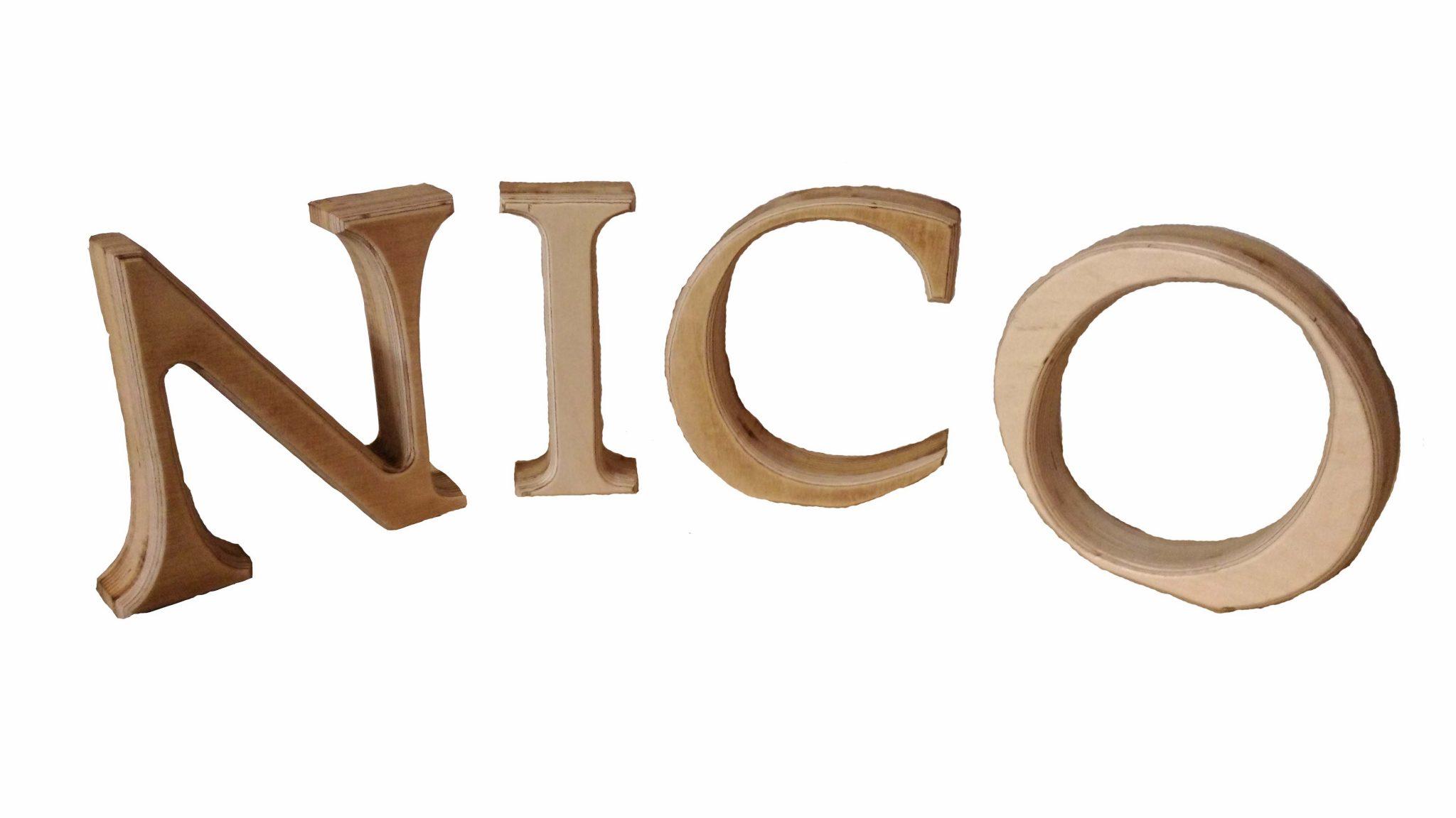Dekobuchstabe Holzbuchstabe zum Aufstellen 15cm hoch aus Holz Buche ...