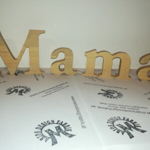 Dekobuchstaben Holzbuchstaben Motiv Mama 10cm aus Holz Buche