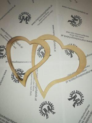 Dekoherz Tischdeko Liebe 2er-Set aus Holz Buche