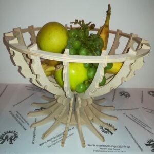 Dekoschale Obstschale Obstkorb einfaches Stecksystem aus Holz Buche