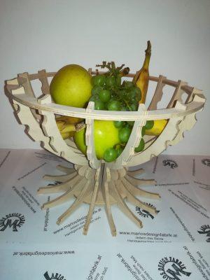 Dekoschale Obstschale einfaches Stecksystem aus Holz Buche