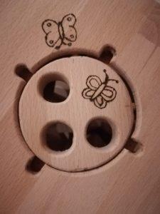 Motorikspiel für Kleinkinder Design Zylinder mit Zubehör aus Holz Buche