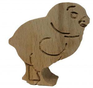 Osterdeko Figuren zum Aufstellen 5er-Set Designs sortiert aus Holz Buche 18mm