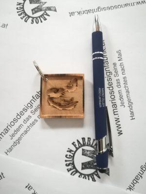 Schlüsselanhänger Comic Motive sortiert aus Holz Buche