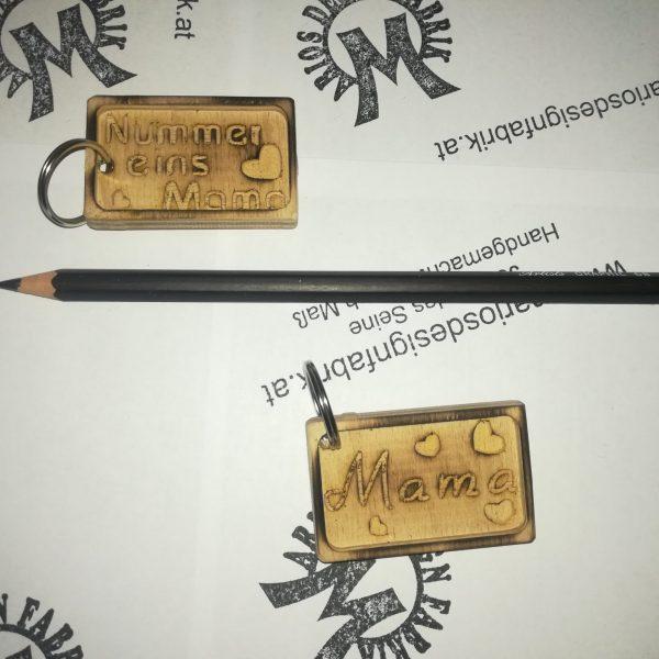 Schlüsselanhänger Muttertag Motive sortiert aus Holz Buche