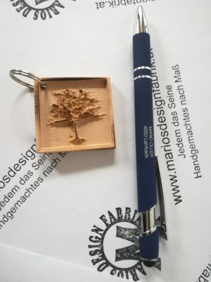 Schlüsselanhänger Natur Pflanzen Motive sortiert aus Holz Buche
