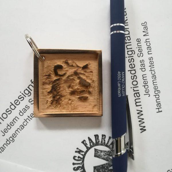 Schlüsselanhänger Tier Motive sortiert aus Holz Buche