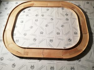 Straßenbausatz Straßenset Starterpaket 14-teilig Rundkurs oval aus Holz Buche