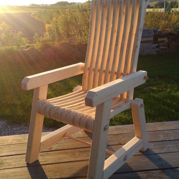 Gartendeko Stuhl Sessel Outdoor einfaches Stecksystem aus Holz Fichte