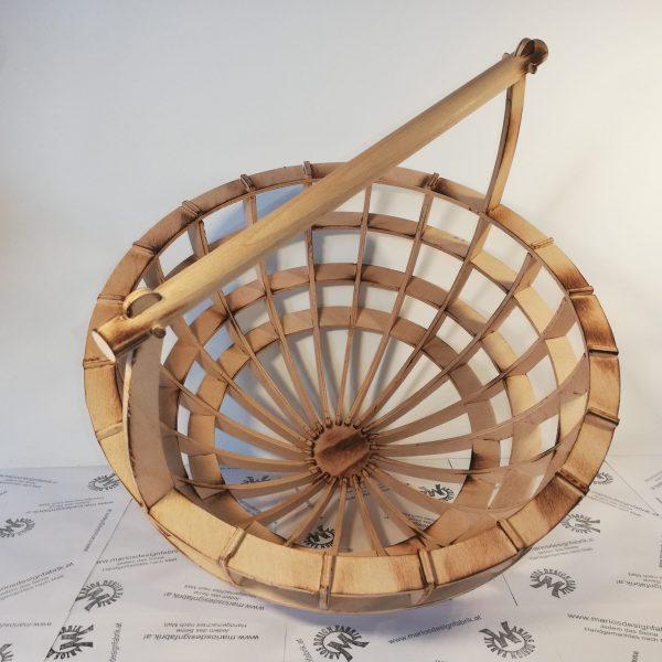 Mehrzweck-Korb Tragekorb Geschenkkorb einfaches Stecksystem aus Holz Buche