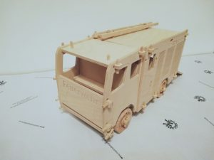 Fahrzeug Spielzeug aus Holz Design Feuerwehr