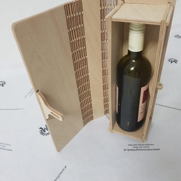 Buchcover Schatulle Geschenkbox klein mit Verschluss aus Holz